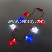 7 led stars flashing necklace tm02854