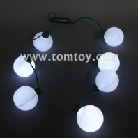 7 white led round bulb necklace tm025-099