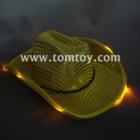 8 led golden cowboy hats tm00046