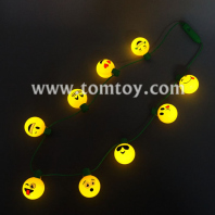 9 emoji led light up necklace tm02727