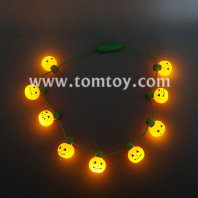 9 led light up pumpkin necklaces tm101-167-or