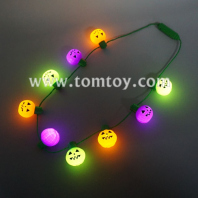 9 led pumpkin string bulb necklace tm02812