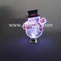 acrylic snowman light up christmas ornament tm05136