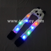 animal light up panda scarf hat tm-050