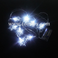 battery powered snowflake led string lights tm06884