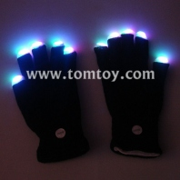 black knit led light gloves tm026-001