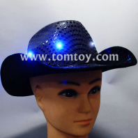 black led flashing hat with sequins tm02175