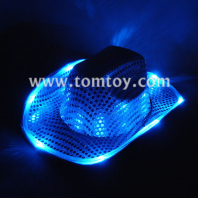blue sequin light up cowboy hat tm-050