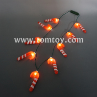 candy cane christmas led necklace tm05873