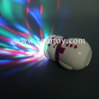 christmas led snowman spinning prism ball with music tm00794