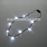 christmas snow led necklace tm02778