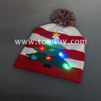 christmas tree light up knitted hat tm04003