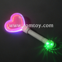 colorful heart shape led light up wand tm02020