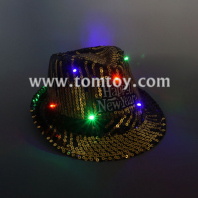 cool led sequin fedora hat tm03149-gd