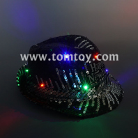 cool light up sequin fedora hat tm03149-bk