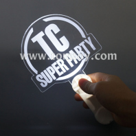 custom light up flashing acrylic stick tm03148
