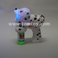 cute spotty dog led bubble gun tm02901