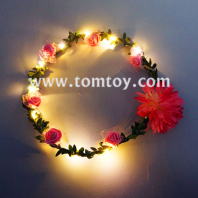 festive fever light up purple and pink flower crown tm02986