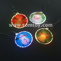 fiber optic led christmas ornament tm04228