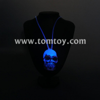 fiber optic skull necklace tm00069