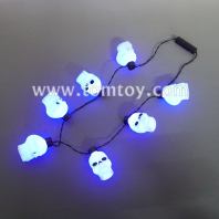 flashing 7 led skull necklace tm02855
