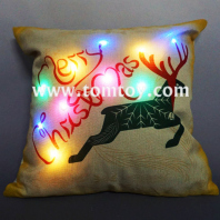 flashing christmas reindeer pillows tm03264