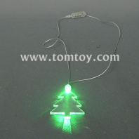 flashing christmas tree necklace tm000-066-christmas tree-gn