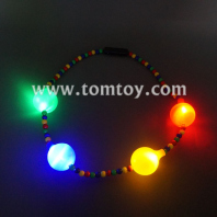 flashing colorful beads necklace tm041-104