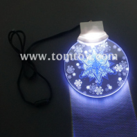 flashing disc necklace with snowflakes printing tm129-037