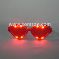 flashing heart-shaped led glasses tm00876
