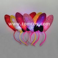 flashing led cute rabbit ear headband tm02753