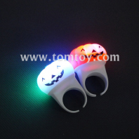 flashing led halloween pumpkin toy rings tm01195