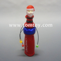 flashing led santa claus spinning wand tm03031