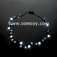flashing led skull necklace tm02779