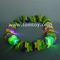 flashing mardi gras flower lei tm041-087