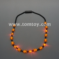 flashing orange skull necklace tm041-106