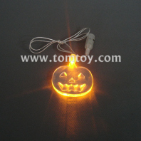 flashing pendant necklace-pumpkin tm00057-pumpkin