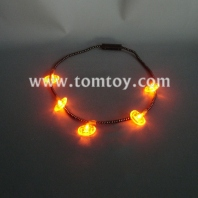 flashing pumpkin necklace tm041-058