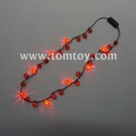 flashing pumpkin string halloween necklace tm02734