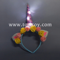flashing rose flower unicorn headband tm03251