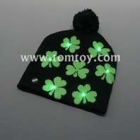 flashing shamrock beanie hat tm04312