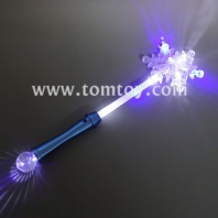 flashing snowflake wand with ball tm00295