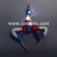 flashing unicorn head bands tm03252