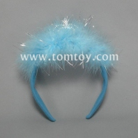 fluffy led crown headband tm101-049-bl