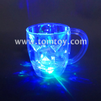 food grade plastic led flashing light beer mug tm01862