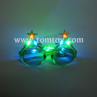 glitter christmas light up flashing led sunglasses tm00221