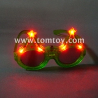 glitter christmas tree light up flashing led sunglasses tm00899