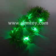 green leaf garland with lights tm06172