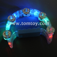 half moon led light up tambourine tm02369-bl