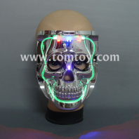 halloween led light up skull mask tm00275